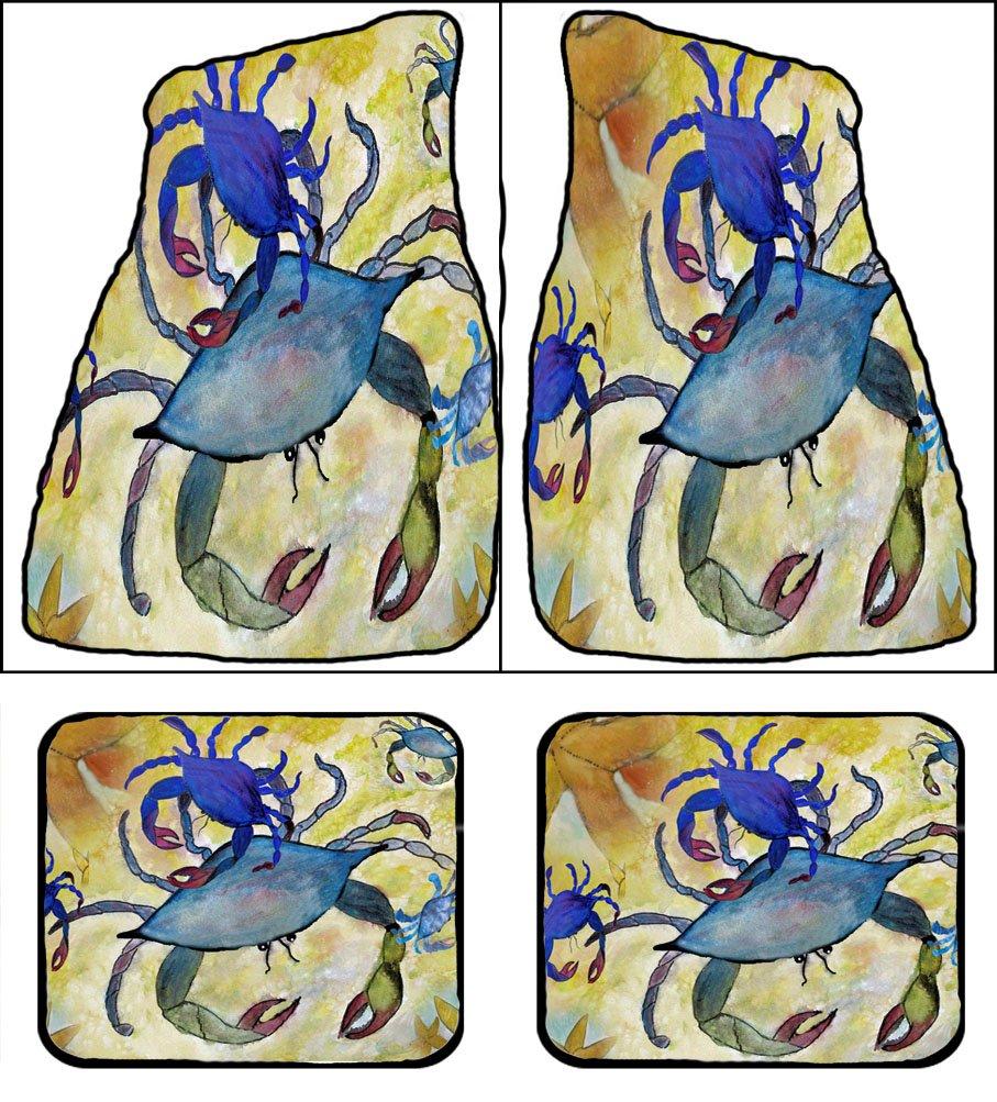 Sandy Blue Crabs Art Auto Car Floor Mats