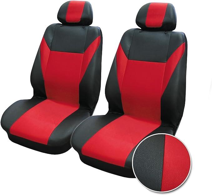 2+1 Rojo Negro Suave Tela Y Apoyabrazos Fundas Para Asientos Ford Transit Van Nuevo