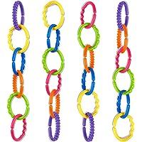 talinu cadena de cochecito de colores 24 piezas