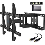PERLESMITH TV Wall Mount Bracket Full Motion Dual Articulating Arm for Most 37-70 Inch LED, LCD, OLED, Flat Curved TVs…