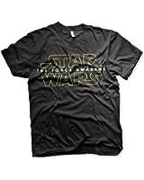 """T-Shirt """"Star Wars/La guerre des Étoiles"""" Logo 1. """"The Force Awakens"""" Épisode 7"""