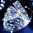 LEDイルミネーションライトAyasoon ジュエリーライト 100球 10m 電池式 リモコン付 8パターン 点滅 点灯 タイマー機能 防水 防塵仕様 屋外 室内 ガーデンライト 正月 クリスマス 飾り ストリングライト (ホワイト)