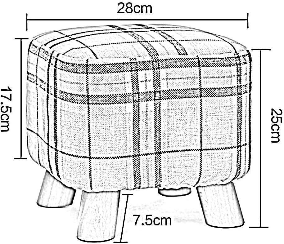 Tabouret Carré Tabouret Canapé Bois Massif Simple Banc Tabouret Carré Disponible dans Quatre Couleurs Haut 25cm GFMING (Color : B)