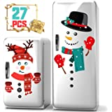 KD KIDPAR Snowman Refrigerator Magnets Set of 27, Cute Funny Fridge Magnet Refrigerator Stickers Holiday Christmas…