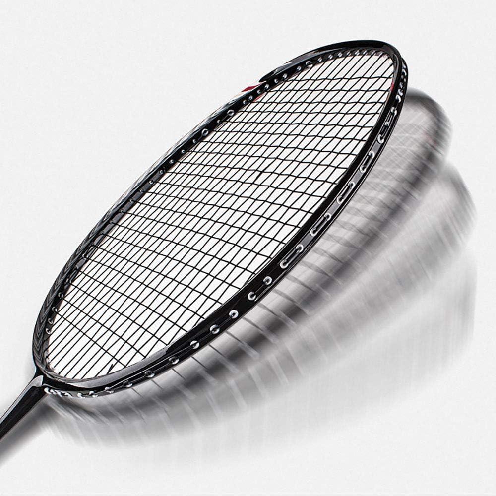 Senston N80 Graphite Single High-Grade Badminton Racquet Professional Carbon Fiber Badminton Racket Black : Sports & Outdoors