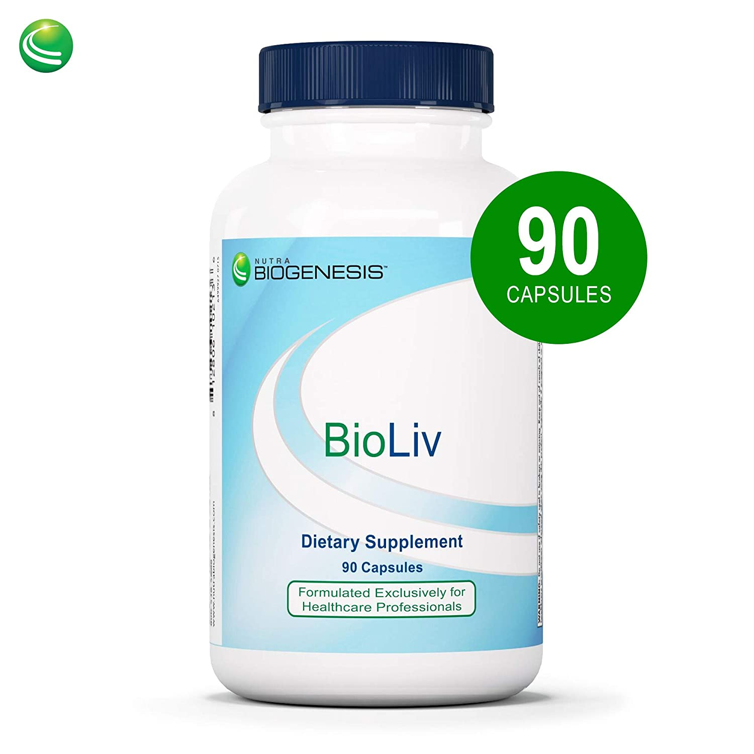 Nutra BioGenesis BioLiv – Choline, Betaine HCl and Dandelion Root to Help Support Bile Flow, Liver Health and Gallbladder Function- 90 Capsules