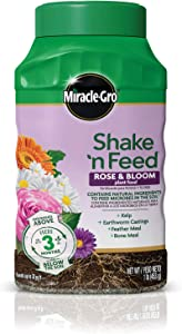 Miracle-Gro Shake 'n Feed Rose and Bloom Plant Food - Promotes More Blooms and Spectacular Colors (vs. Unfed Plants), Feeds Roses and Flowering Plants for up to 3 Months, 1 lb.