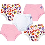 Bambino Mio, Potty Training Pants, Mixed Girl Pink Elephant, 2-3 Years, 5 Pack