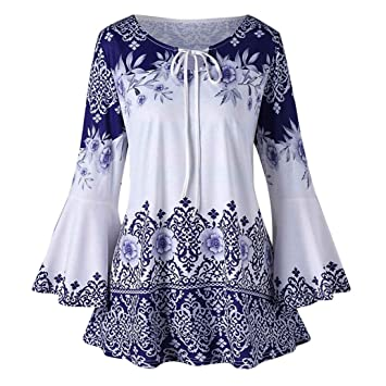Seaintheson Women Tops Clearance Sale Fashion Casual Plus Size