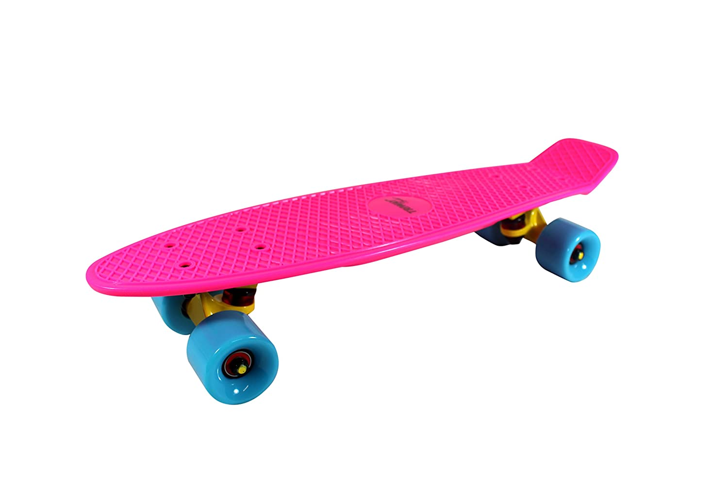 "Mini-Skateboard Retro Board ""Roller Girl Pink"" von Triway Sports - Fun und Action für Roller Girls mit diesem stylishen und coolen Retro-Highlight! - Max. Benutzergewicht: 80 kg"