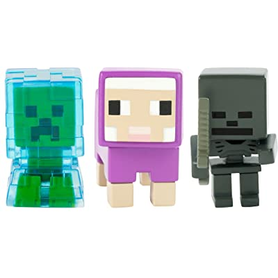 Minecraft Charged Creeper, Sheep, & Whither Skeleton Figure: Toys & Games
