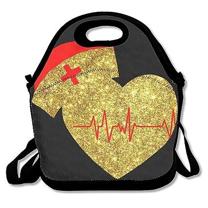 Amazon.com: dorado Enfermera logotipo para el almuerzo con ...