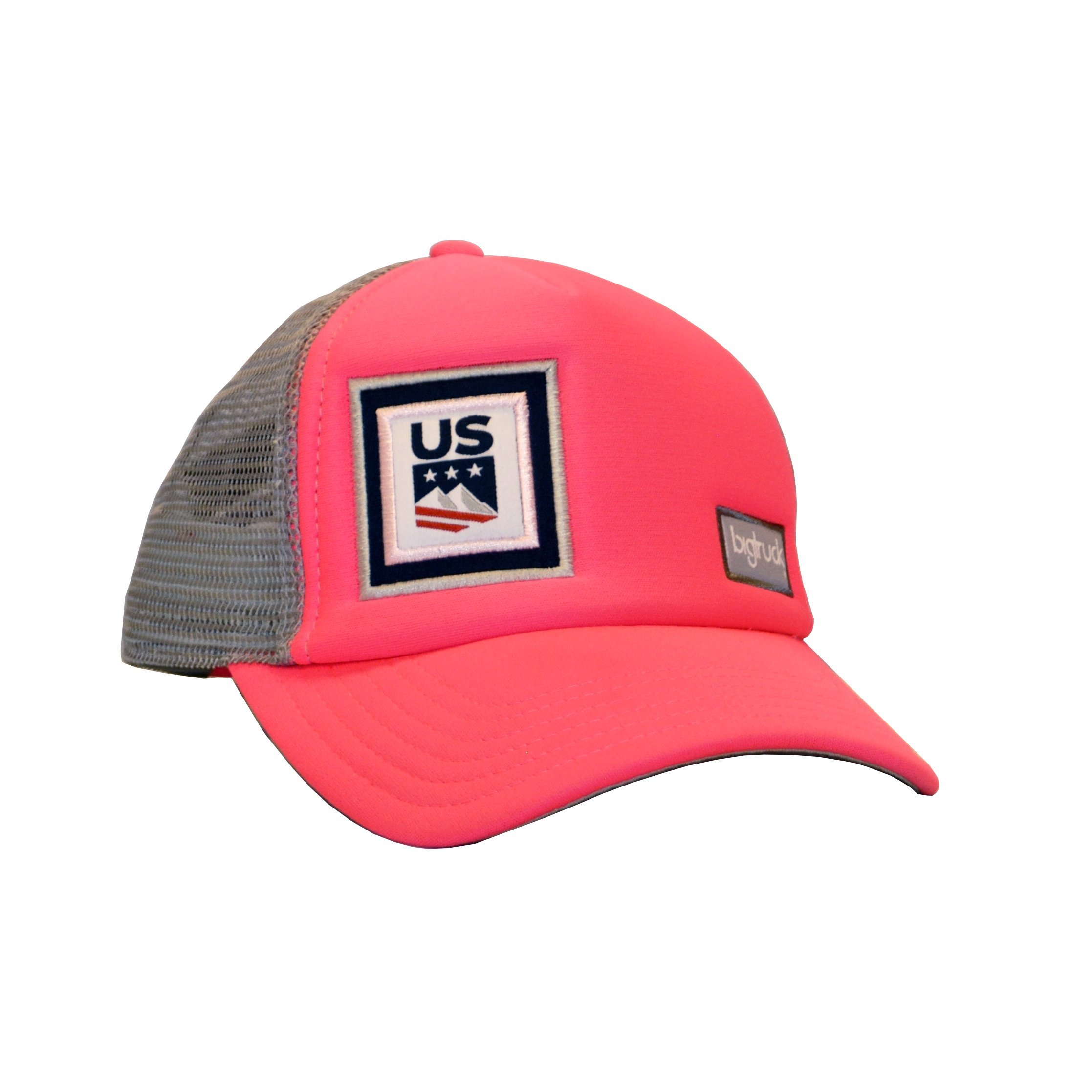 bigtruck USSA Original Youth Mesh Snapback Youth Trucker Hat, Pink