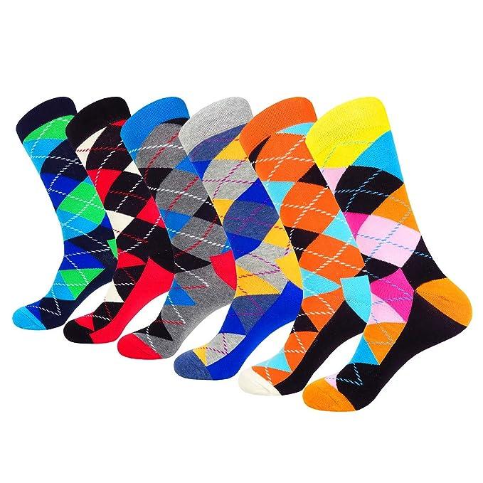 WEILAI Hombre Famoso Funky Colorful Crew - Calcetines de vestido: Amazon.es: Ropa y accesorios