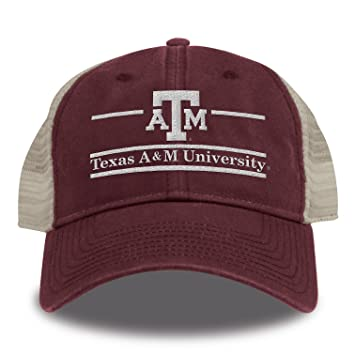 best service fb4e9 bddd2 NCAA Texas A M Aggies Split Bar Design Trucker Mesh Hat, Maroon, Adjustable