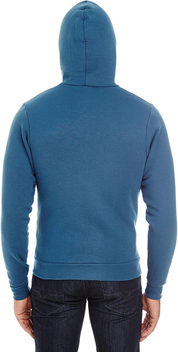 F497 Sea Blue L Clementine American Apparel Flex Fleece Zip Hoodie