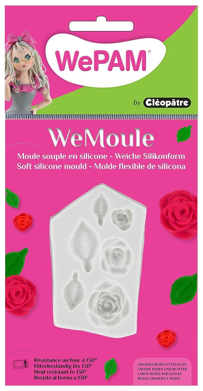 Cleopatre WeMoule - Molde de silicona para moldar rosas y flores con porcelana fría: Amazon.es: Oficina y papelería