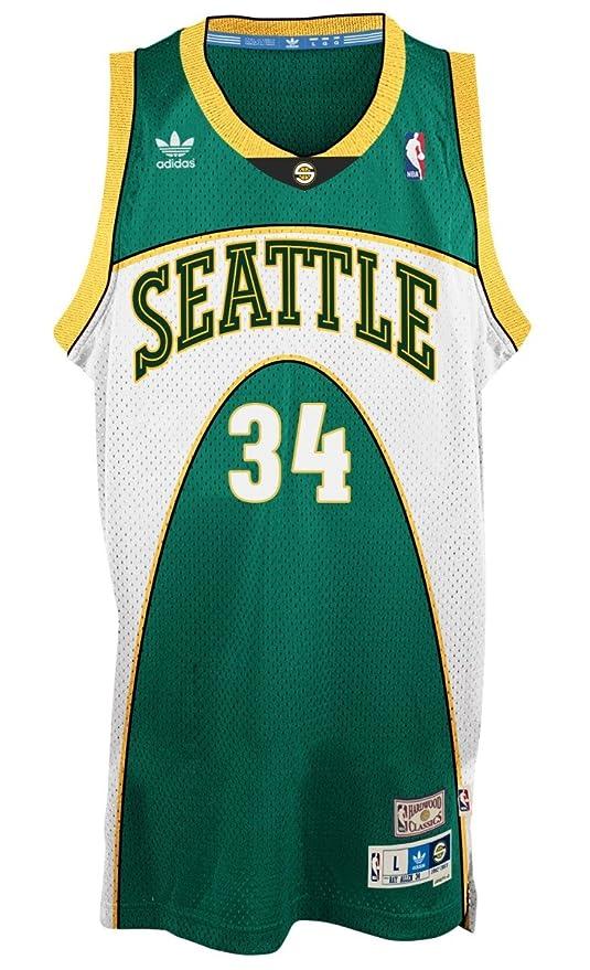 the latest 2d5e7 15690 Ray Allen Seattle Supersonics Adidas NBA Throwback Swingman ...