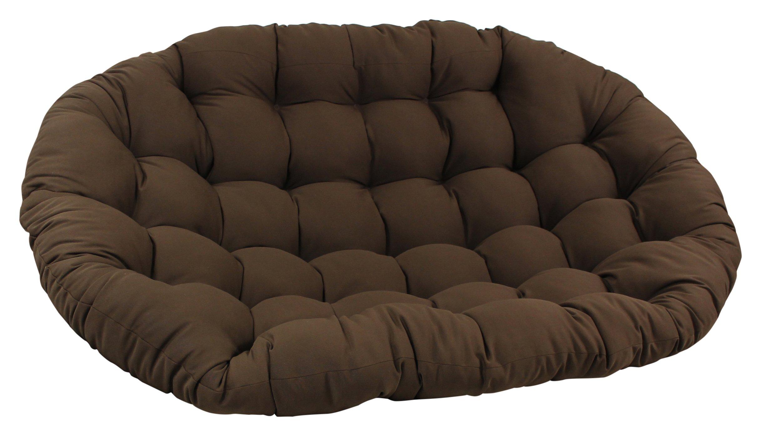 Blazing Needles Solid Twill Double Papasan Chair Cushion, 48'' x 6'' x 65'', Natural