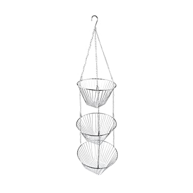 Fox Run 6312 Three Tier Hanging Wire Baskets, Chrome, One Size, Silver
