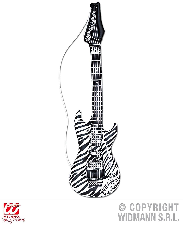 Instrumento - Guitarra - Blanco y Negro, 105 cm, hinchable ...