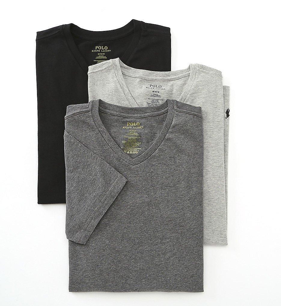 Polo Ralph Lauren Slim Fit T-Shirt 3-Pack, L, Grey Assorted by Polo Ralph Lauren