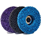 "M-jump 3 PCS 4-1/2"" x 7/8"" Black/Blue/Purple Stripping Wheel Strip Discs for Angle Grinders Clean & Remove Paint…"