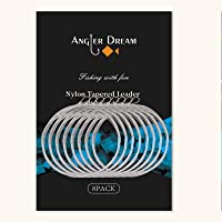 ANGLER DREAM 8 Pack Welded Tapered Leader Fly Fishing Leader with Loop 9ft 0/1/2/3/4/5/6/7X Nylon Fly Leader