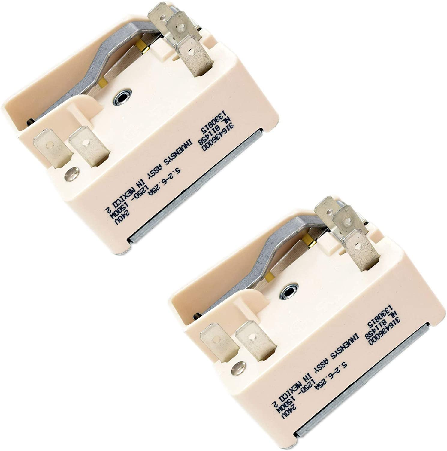 316436000 Range Surface Element Control Switch Genuine Original Equipment Manufacturer (OEM) Part, 2-Pack
