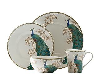 Wonderful 222 Fifth Peacock Garden 11u0026quot; Dinner Plates ...