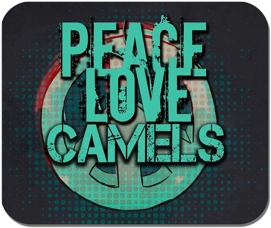 Office Mousepad Gaming Makoroni Computer Non-Slip Rubber Peace Love Camels