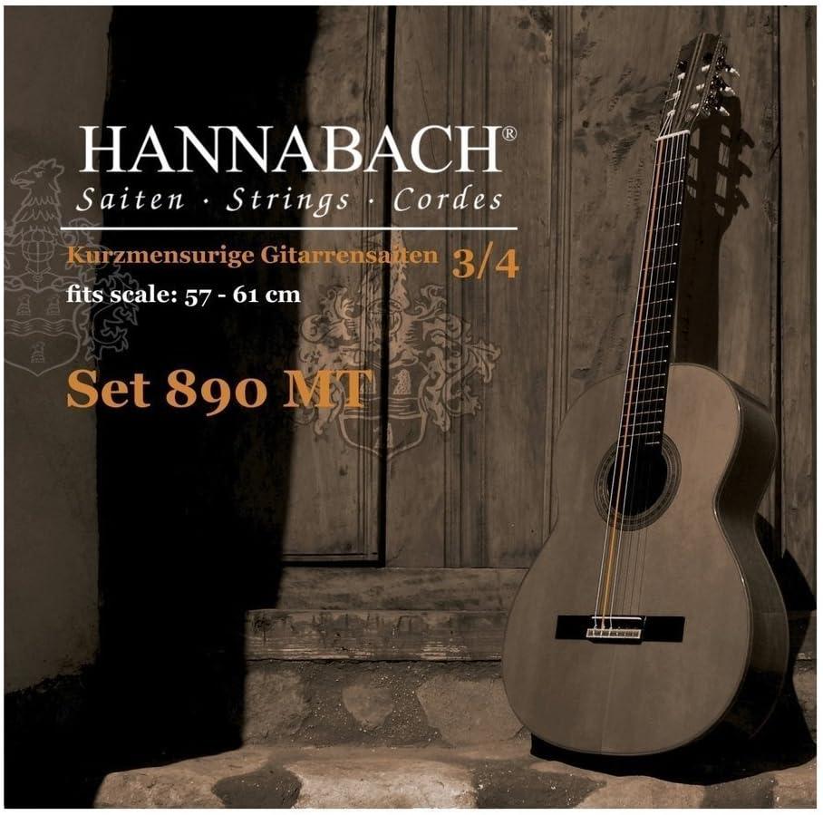 tama/ño 3//4 Diapas/ón 57-61 cm cuerda suelta E6//Mi6 entorchado Serie 890 Guitarra para ni/ños Hannabach Cuerdas para guitarra cl/ásica