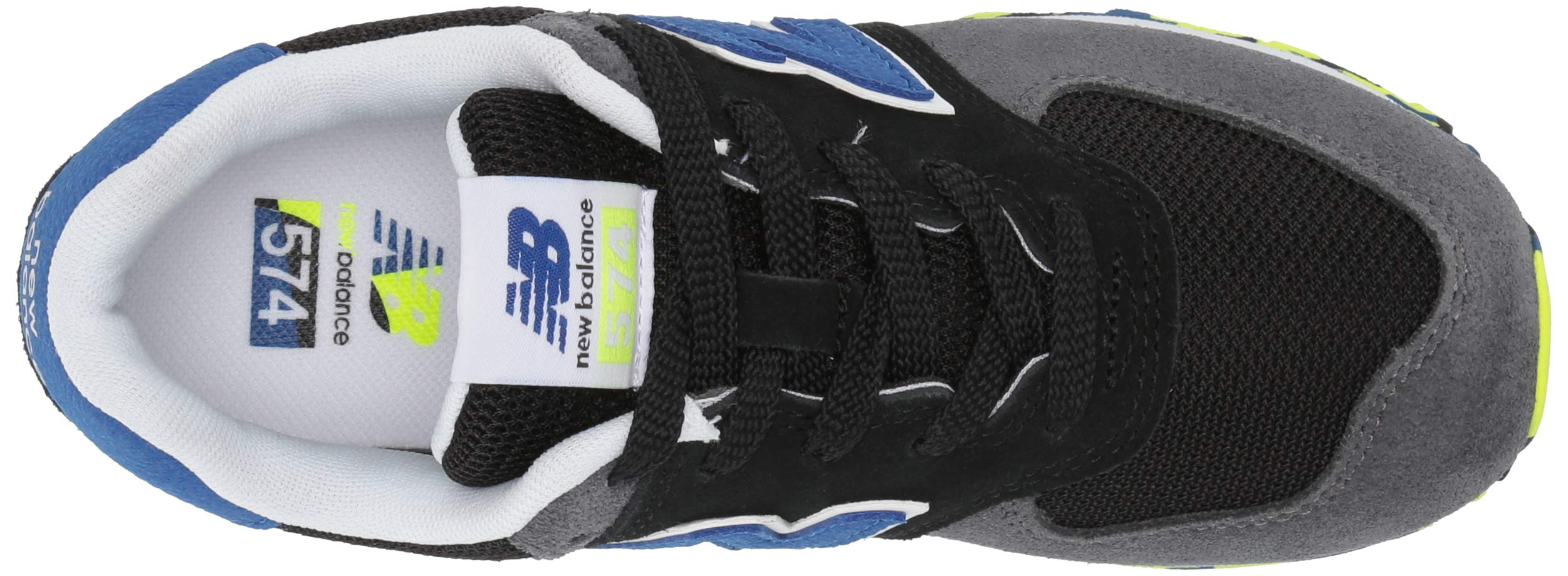 New Balance Boys' Iconic 574 Sneaker Black/Royal Blue 4.5 M US Big Kid by New Balance (Image #8)