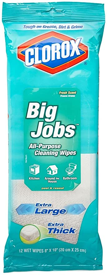 Clorox Big Jobs All-Purpose Cleaning Wipes - Fresh Scent - 12 ct