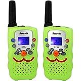 Retevis RT32 Paire de Talkies Walkies Enfant 0.5W UHF 446MHz CTCSS/DCS VOX LCD Ecran Torch Intégré 8 Canaux (Vert Clair, 1 Paire)