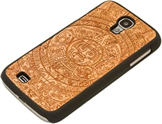 product image for CARVED Matte Black Wood Case for Galaxy S4 - Aztec Calendar Engraved Cherry (S4-BC1K-E-AZTC)