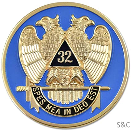 Amazon com: Square-and-Compasses Co  Scottish Rite Double Eagle