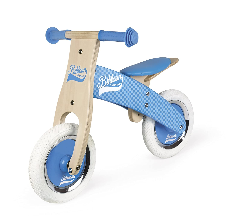 Hellblau Janod J03258 Little Bikloon Laufrad aus Holz