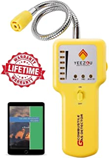 Y201 Natural Gas Detector, Propane Gas Leak Detector, Gas Sniffer, Portable Combustible Explosive