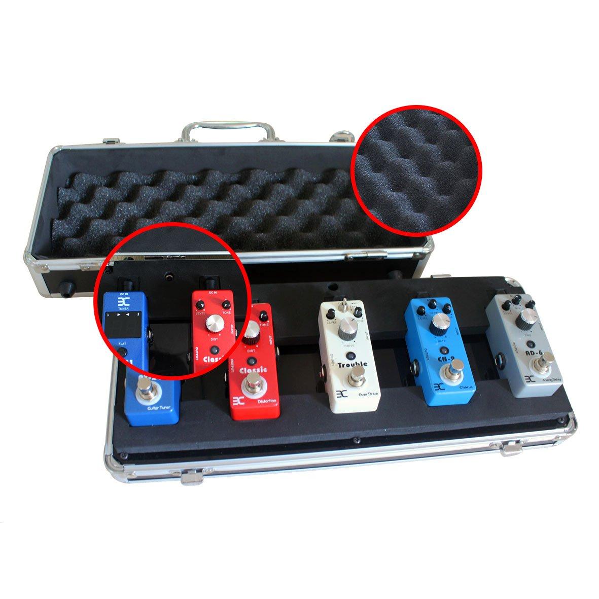 ENO EX QQ Case 5-Pedal Pedalboard/Electronic Guitar Effects Pedals Flight Case by Effects Pedals Flight Case (Image #4)