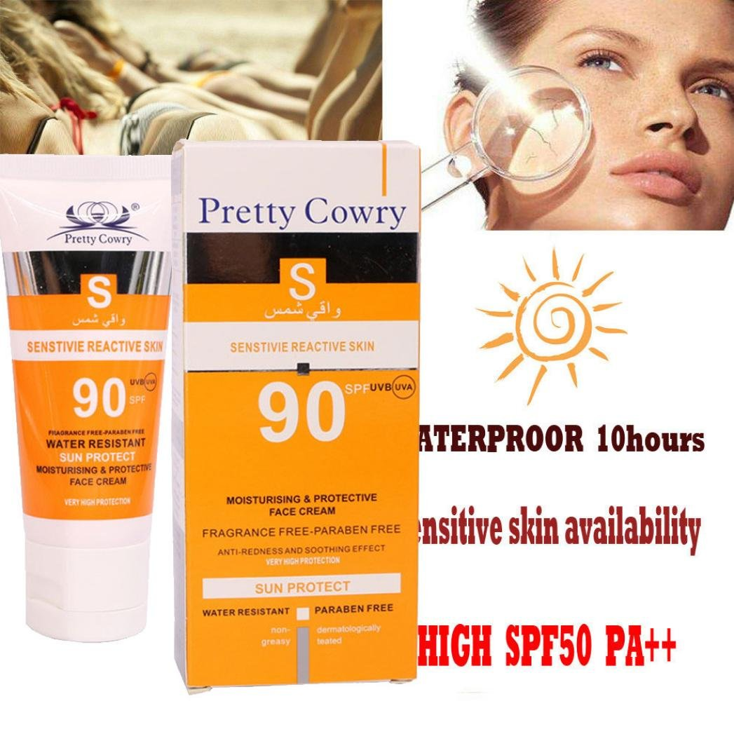 Say No to Sunburn,lotus.flower Thailand Beauty Skin Care Sunscreen Cream Waterproof UV Protection Cream Long Lasting (A) by Lotus.flower (Image #3)