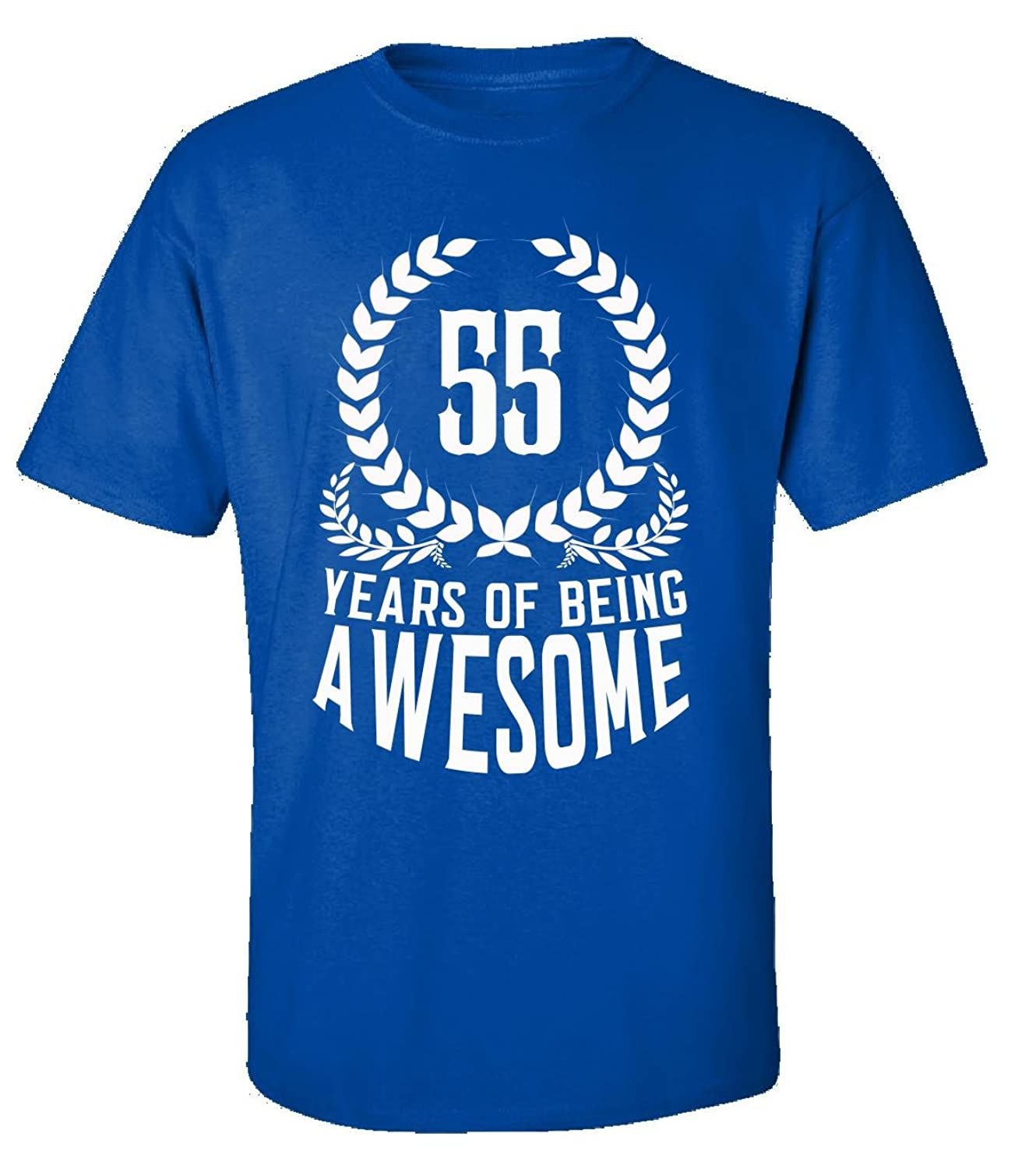 55th Birthday Gift For Men Woman 55 Years Of Being Awesome - Adult Shirt