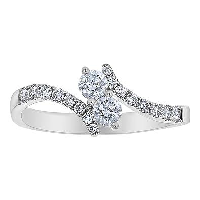 bde147a9cf2 Olivia Paris 1/2 Carat Diamond (F-G, SI1-SI2) Two Stone Engagement ...