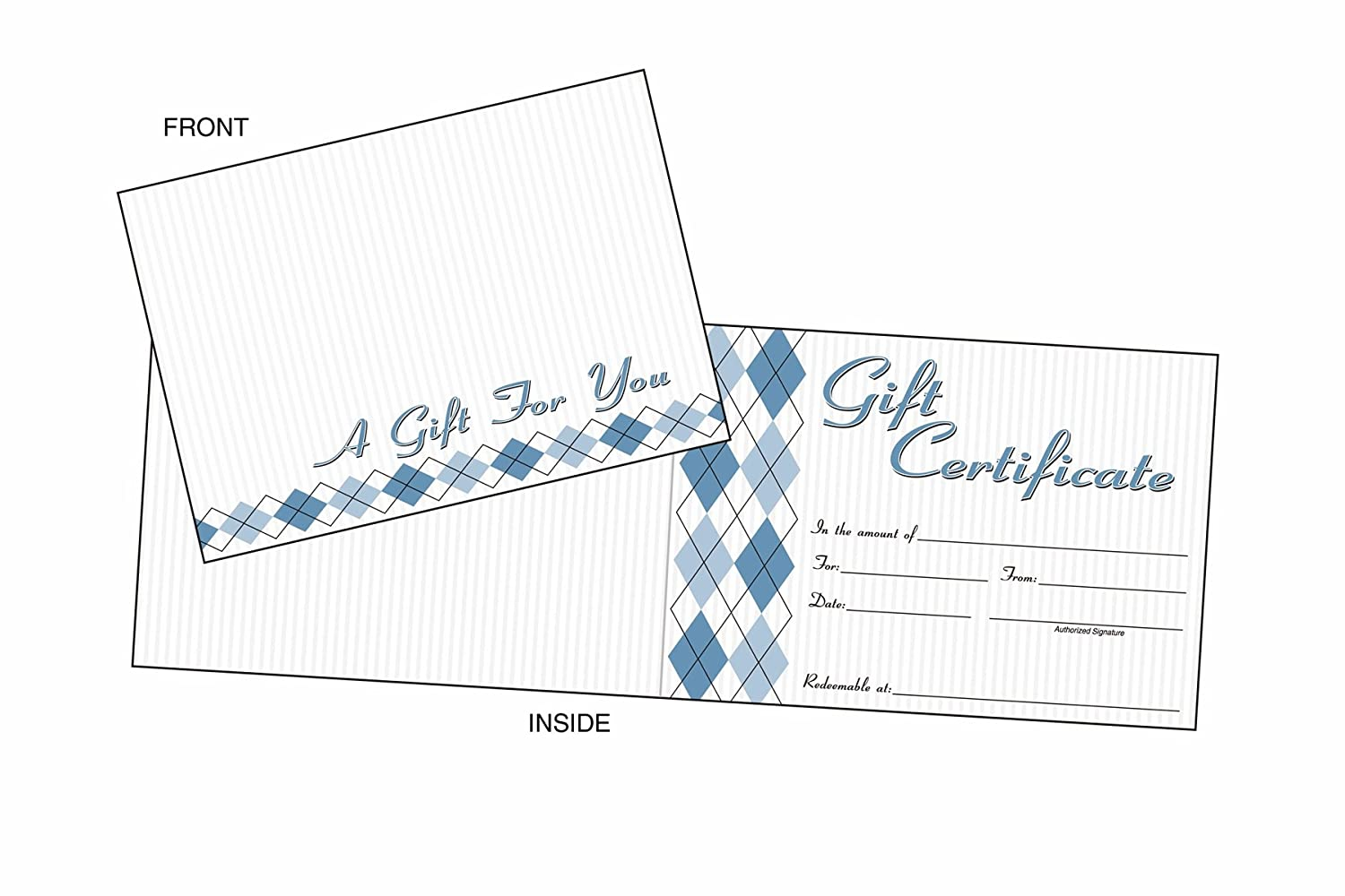 awards certificates amazon com office school supplies adams gift certificate cards 20 folded cards and envelopes 6 25 x 4 50 inches white gftcrd