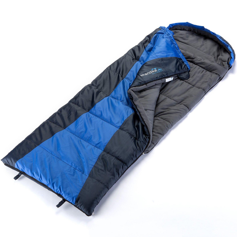 skandika Thurso Techos Adultos Saco de Dormir para Camping Senderismo Trekking, Izquierda y Derecha Pueden trat Junto, Color Azul Oscuro/Azul Claro, ...
