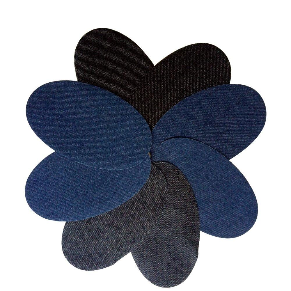 8 Coderas rodilleras vaqueras 3 colores termoadhesivas aplique para chaquetas, camisas, cazadoras, pantalones, jerseys, americanas, nuevo look y reparacion de ropa en 10 segundos de OPEN BUY