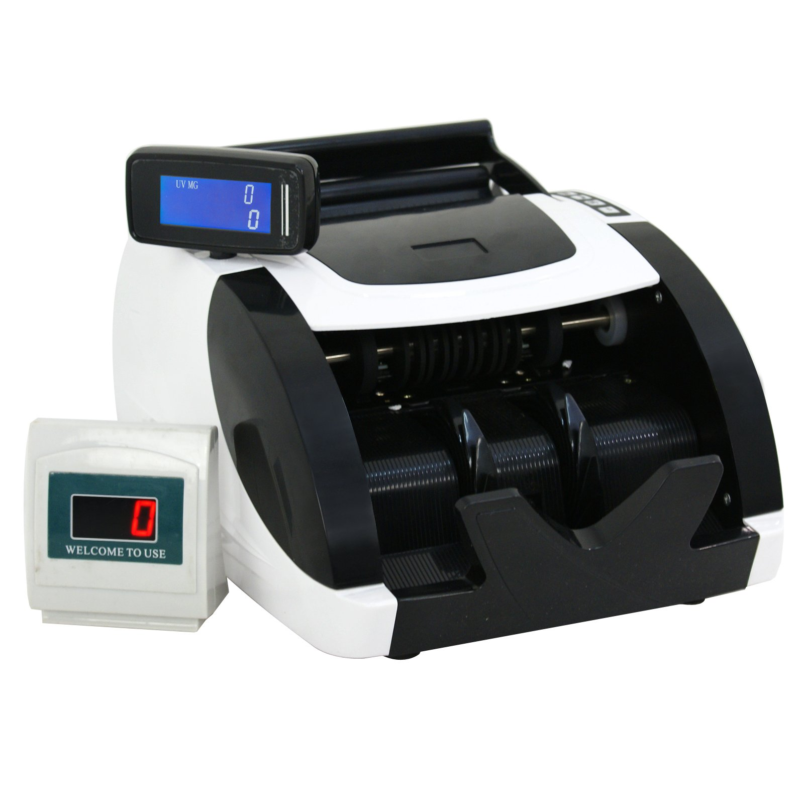 ZENY Money Bill Counter Currency Cash Counting Machine UV & MG Counterfeit Detection