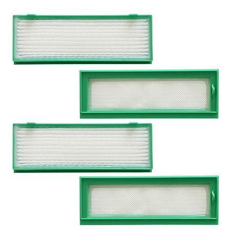 TeKeHom - Juego de 4 filtros HEPAPAK para aspiradoras Vorwerk Kobold VR200