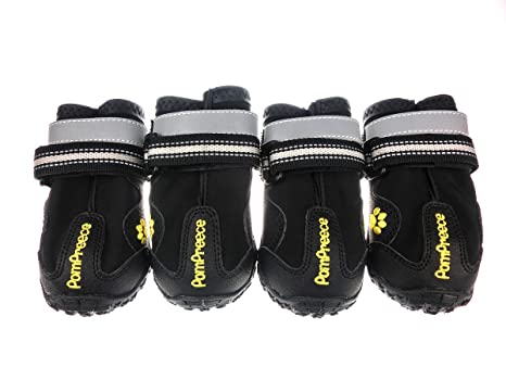 667b262a718 Xanday Dog Boots Waterproof Dog Shoes Paw Protectors with Reflective Straps  and Wear-Resisting Soles 4Pcs