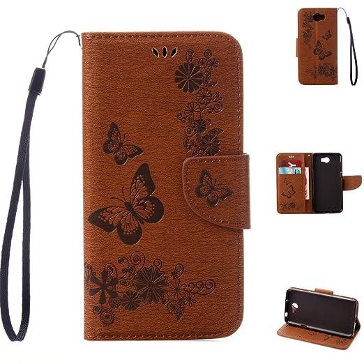 54 opinioni per Telefono Caso per Huawei Y5 II( 2 Generazione) Marrone Folio Flip Wallet